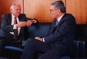 Walter Hicket with Boutros Ghali