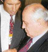 Peter Meisen with Mikhail Gorbachev