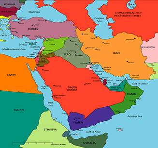 Geni us letter january 2012 iran iraq pakistan interconnecting middle east political map gumiabroncs Image collections