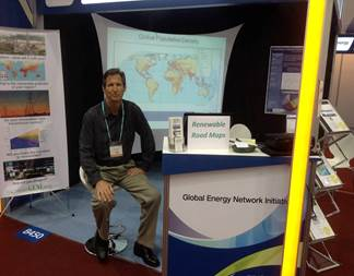 Peter Meisen at GENI's World Energy Congress 2013 booth in Daegu, Korea