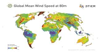 3tier 5km global wind speed at 80m