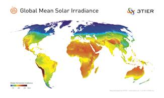 3tier global mean solar irradiance