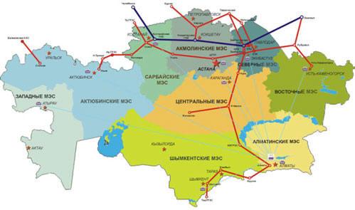 National energy grid of kazakhstan national electricity kazakhstans electricity transmission grid thumbnail map gumiabroncs Images