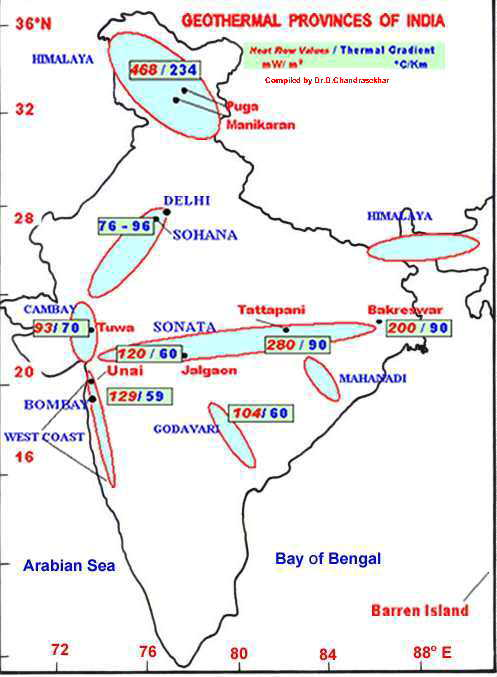 Geothermal energy potential in india