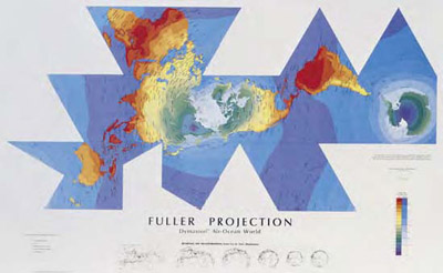 Global energy network institute shopping maps fuller fuller projection air ocean world dymaxion map gumiabroncs Choice Image